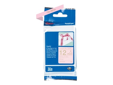 Brother Tape Tygband 12mm TZe-RE34 Guld/Rosa