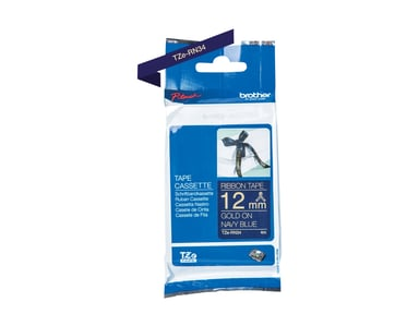 Brother Tape Tygband 12mm TZe-RN34 Guld/Mörkblå