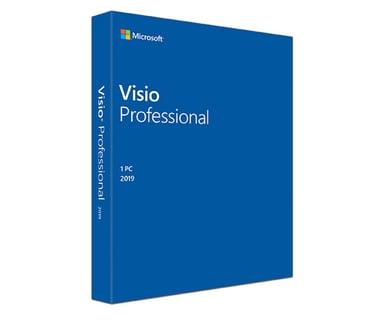 Microsoft Visio Professional 2019 Win Fin Medialess