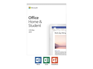 Microsoft Office 2019 Home & Student Svensk Medialess null
