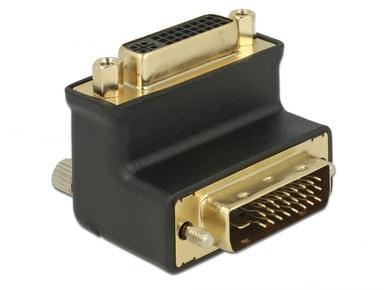Delock 90 Angled Adapter 24+1 Male To 24+5 Female Black DVI-D Dual Link Hane DVI-D Dual Link Hona