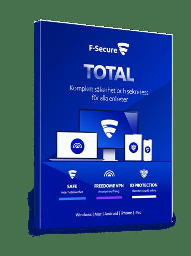 F-Secure Total Security & VPN 1 år 3 Enheder Boks