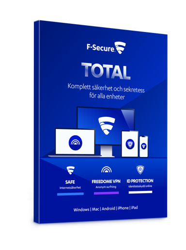 F-Secure Total Security & VPN 1-Year 3-Devices Box