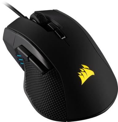 Corsair Gaming Ironclaw RGB Gaming Mouse 18,000dpi Mus Kabelansluten Svart