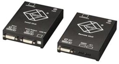 Black Box CATx DVI-D KVM Extender for USB keyboard/Mouse Single Video
