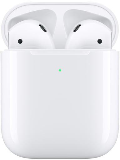 Apple AirPods (2019) Med Trådløst Ladeetui Hvit