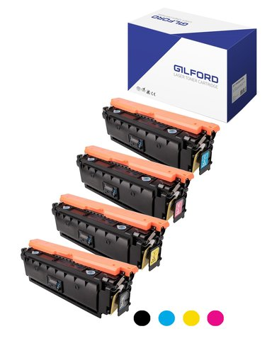 Gilford Värikasetti Kit (B/C/m/Y) 508X 12.5K/9.5K