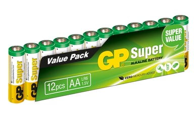 GP Power Batteri Super Alkaline 12pcs AA/LR6