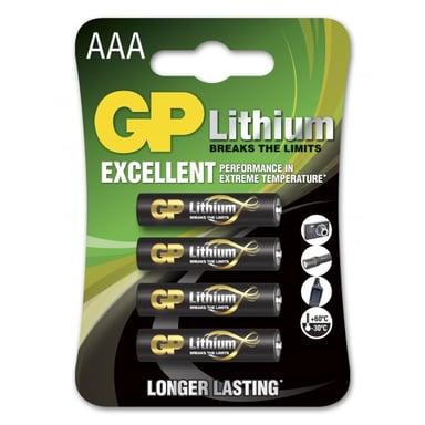 GP Batteri Lithium AAA/LR03 4-Pack