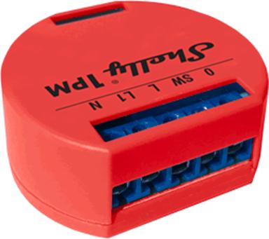 Shelly 1PM WiFi enkanalig fjärrströmbrytare med energimätning för inbyggnad