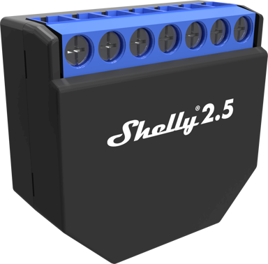 Shelly 2.5 WiFi 2-channel automation switch