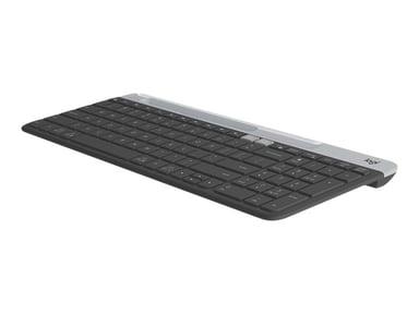 Logitech Slim Multi-Device K580 Trådlös Hela norden Grå