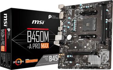 MSI B450M-A PRO MAX Micro ATX Moederbord