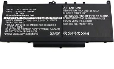 Coreparts Batteri til bærbar PC litiumpolymer 7200 mAh 54.7 Wh