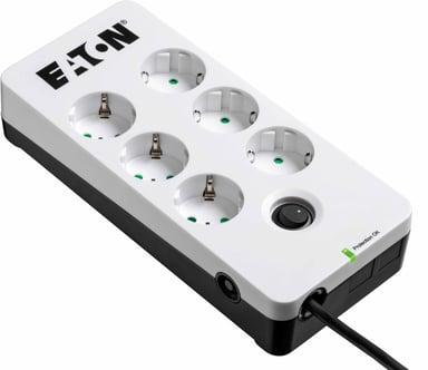 Eaton Protection Box 6 stikkontakt 10A Ekstern 6st Hvit