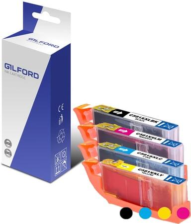 Gilford Blæk Kit (C/M/Y/B) 581XXl - Ts6150/8150 - 1998C001