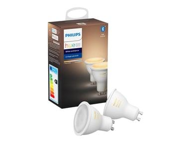 Philips Hue White Ambiance 5W GU10 2-Pack