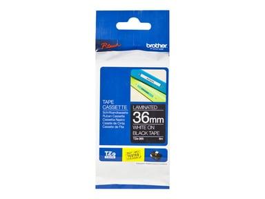 Brother Tape TZE-365 36mm Hvid/Sort