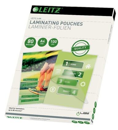 Leitz Lamineringsficka 80mic A4 100st