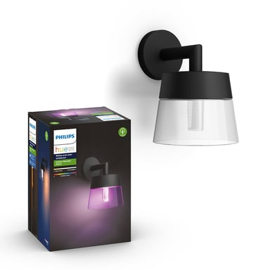 Philips Hue Outdoor Attract Wall Lantern 1X8w 230V, Black