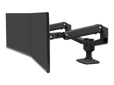 Ergotron LX Dual Side-By-Side Arm Matte Black