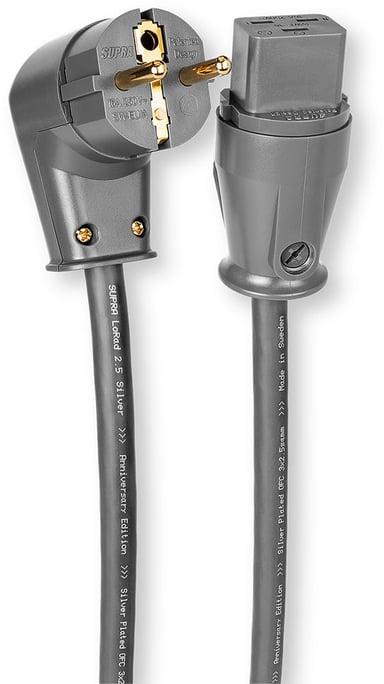 Jenving SUPRA LoRad 2.5 1m Ström CEE 7/7 Hane Ström IEC 60320 C19 Hane