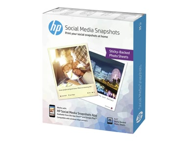 HP Papper Social Media Snapshots 10x13cm 25 Ark