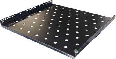 "Toten System G Fixed Rack Shelf 19"" Cabinet Max 100kg Black 19"" 100kg"