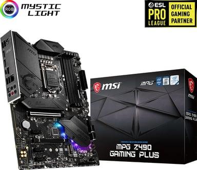 MSI MPG Z490 GAMING PLUS ATX Moderkort
