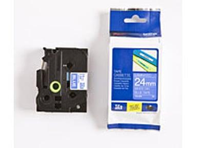 Brother Tape TZE-555 24mm Hvid/Blå