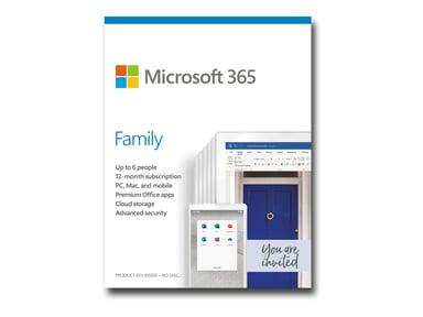 Microsoft 365 Family 1 år 6st användare Svensk Box