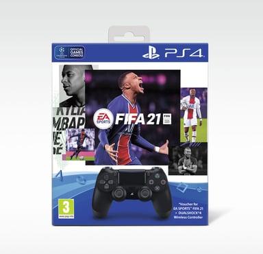 Sony Dualshock 4 V2 - Black + FIFA 21 Svart