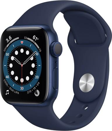 Apple Watch Series 6 GPS, 40mm Blue Aluminium Case with Deep Navy Sport Band