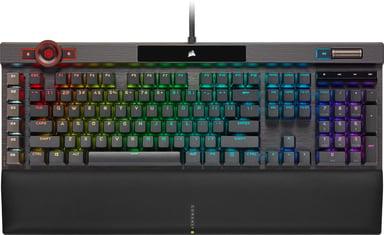 Corsair K100 RGB Optical-Mechanical Keyboard Kabelansluten Nordisk Svart