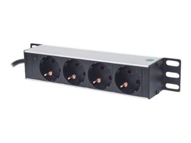 "Intellinet 10"" 1U Rackmount 4-Way Power Strip 4st CEE 7/3 strøm"