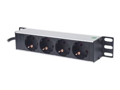 "Intellinet 10"" 1U Rackmount 4-Way Power Strip 4st Strøm CEE 7/3"