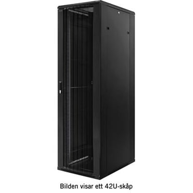 "Toten 19"" Floor Cabinet 18U 800X800 With Perforerade Doorar #demo"