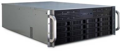 Inter-Tech IPC 4U-4416 16-Bay Storage Chassi Svart