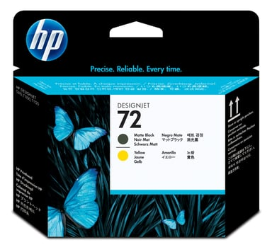 HP Skriverhode No.72 Mat Svart & Gul - T1100 null