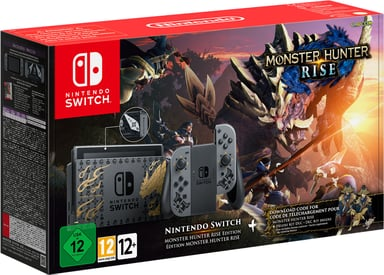 Nintendo Switch Monster Hunter Rise Limited Edition 32GB Harmaa
