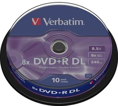 Verbatim DVD+R DL x 10 null