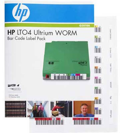 HPE Ultrium 4 WORM Bar Code Label Pack