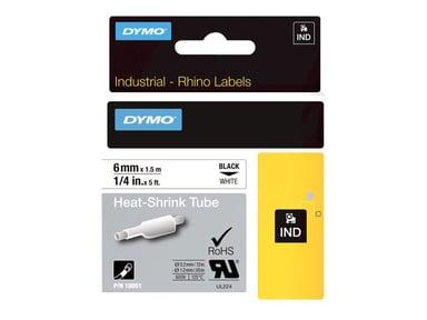 Dymo Tape RhinoPRO Heat Shrink 6mm Svart/Hvit