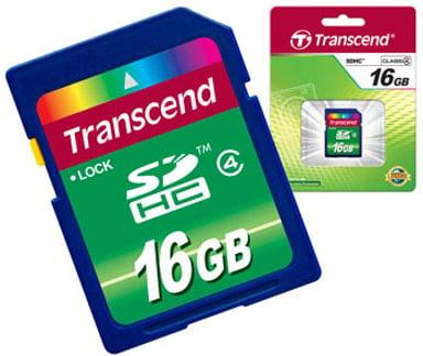 Transcend Flash-Minneskort 16GB SDHC-minneskort