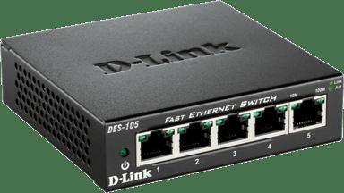 D-Link DES-105 Nätverksswitch