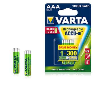 Varta Accu Redo-Att-Använda Uppladningsbart Batteri Ni-MH 2st AAA/LR03 - 1,2V - 1000 mAh