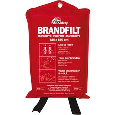 Nexa Brandfilt BF-13602 Röd 120x180cm