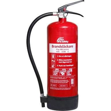 Nexa Brandsläckare 6kg ABC-Pulver 43A Väggmonterad Röd