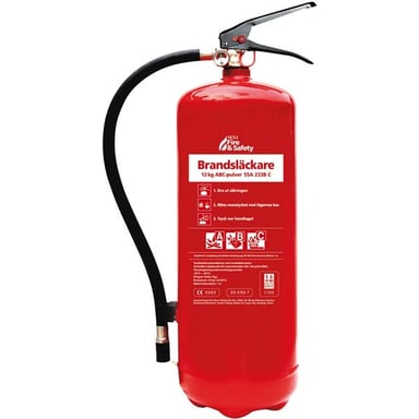 Nexa Brandsläckare 12kg Abc-Pulver 55A Inkl Väggstativ