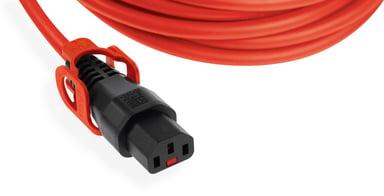 IECLock Strömkabel med lås 0.5m Ström IEC 60320 C14 Ström IEC 60320 C13
